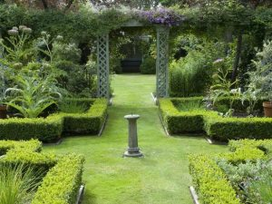 A formal English garden which would have suited my backyard but changed the entire feeling of the space.